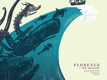 Florence + The Machine poster by Andrew Saeger